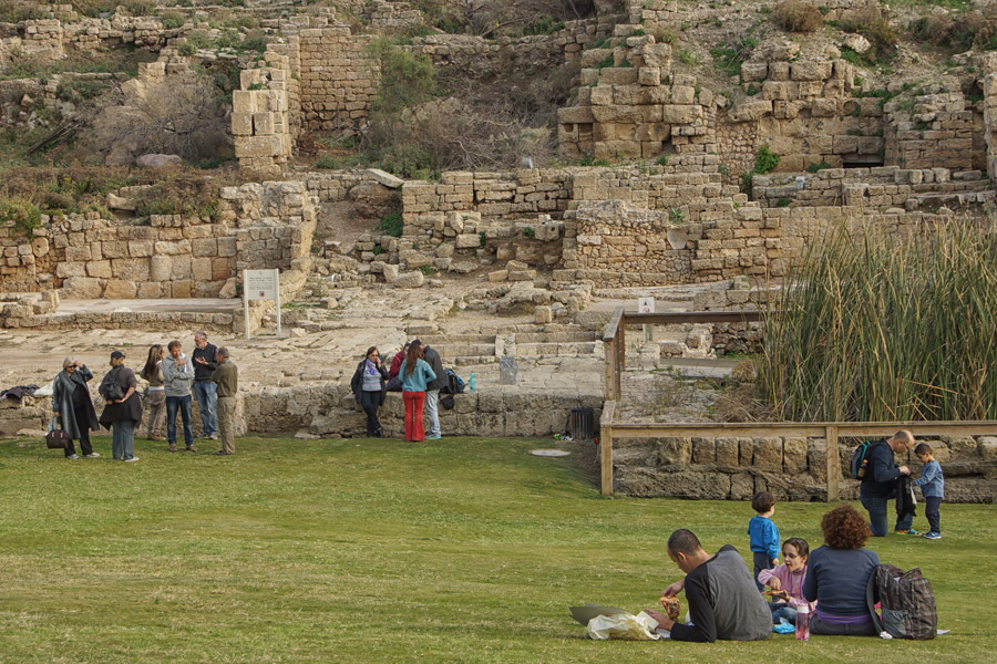 relaxing at Caesarea