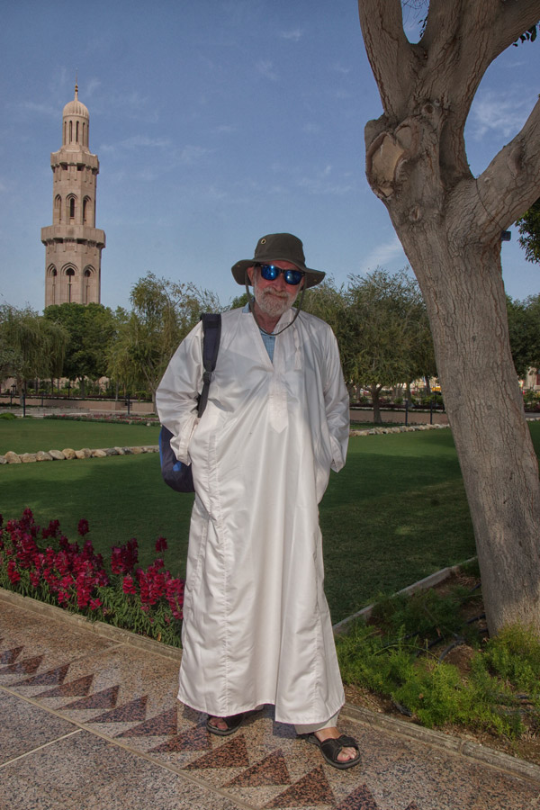 dressed for the mosque