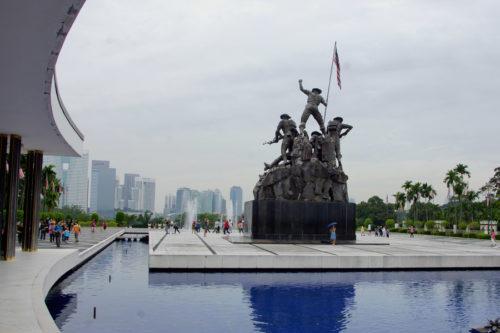 tourists visit the war memorial