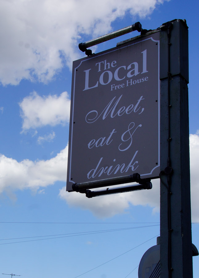 The Local pub sign