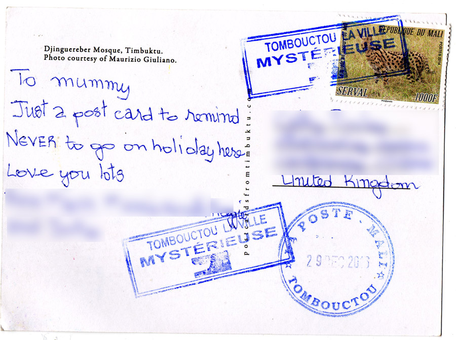 postcard from Timbuctu